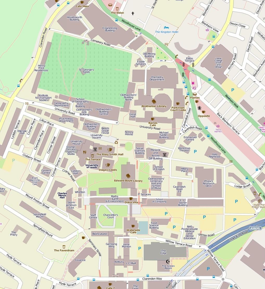 File University Of Leeds Main Campus Map Jpg Wikimedia Commons