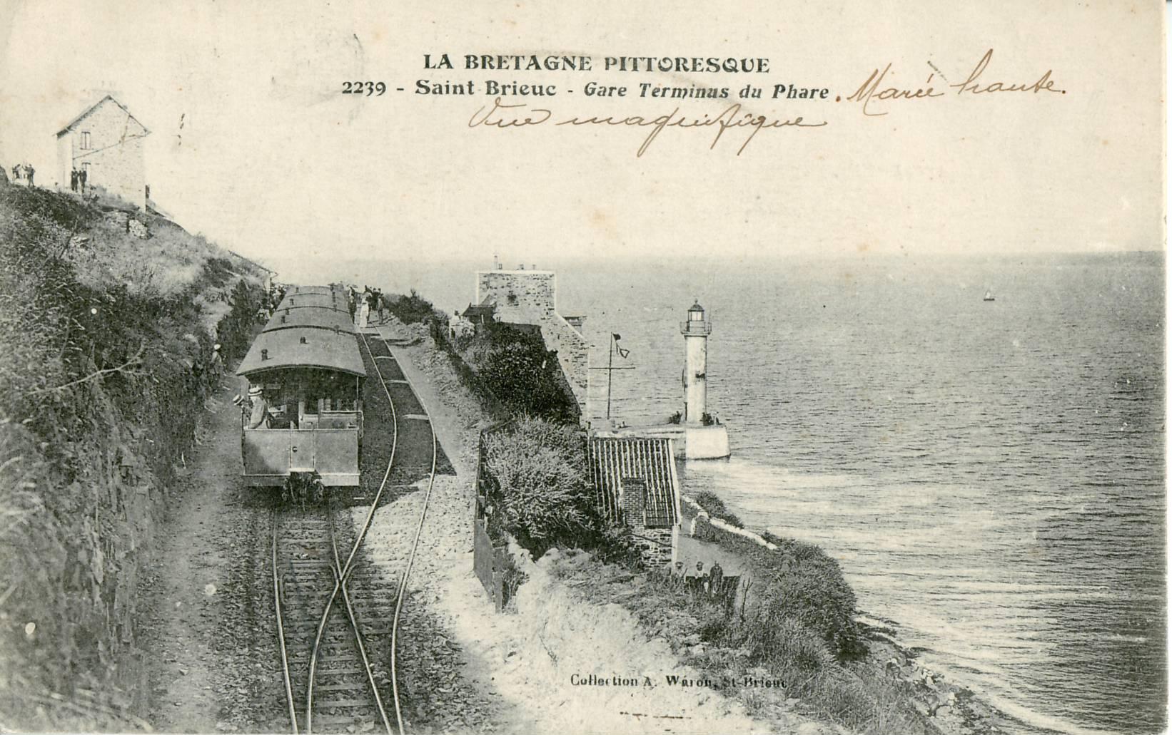 File:Waron 2239 - LA BRETAGNE PITTORESQUE - SAINT-BRIEUC - Gare terminus du