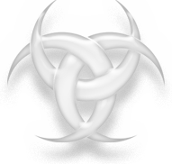 Symbol of Wicca, version 2, white version.