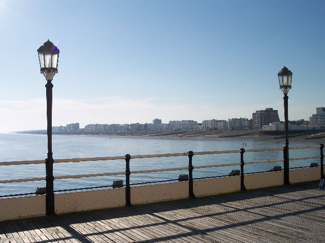 Worthing Beach from the pier. - geograph.org.uk - 48494