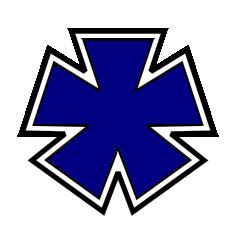 The blue Pentagon Cross served as the badge of the 3rd Division, XXII Corps [1]