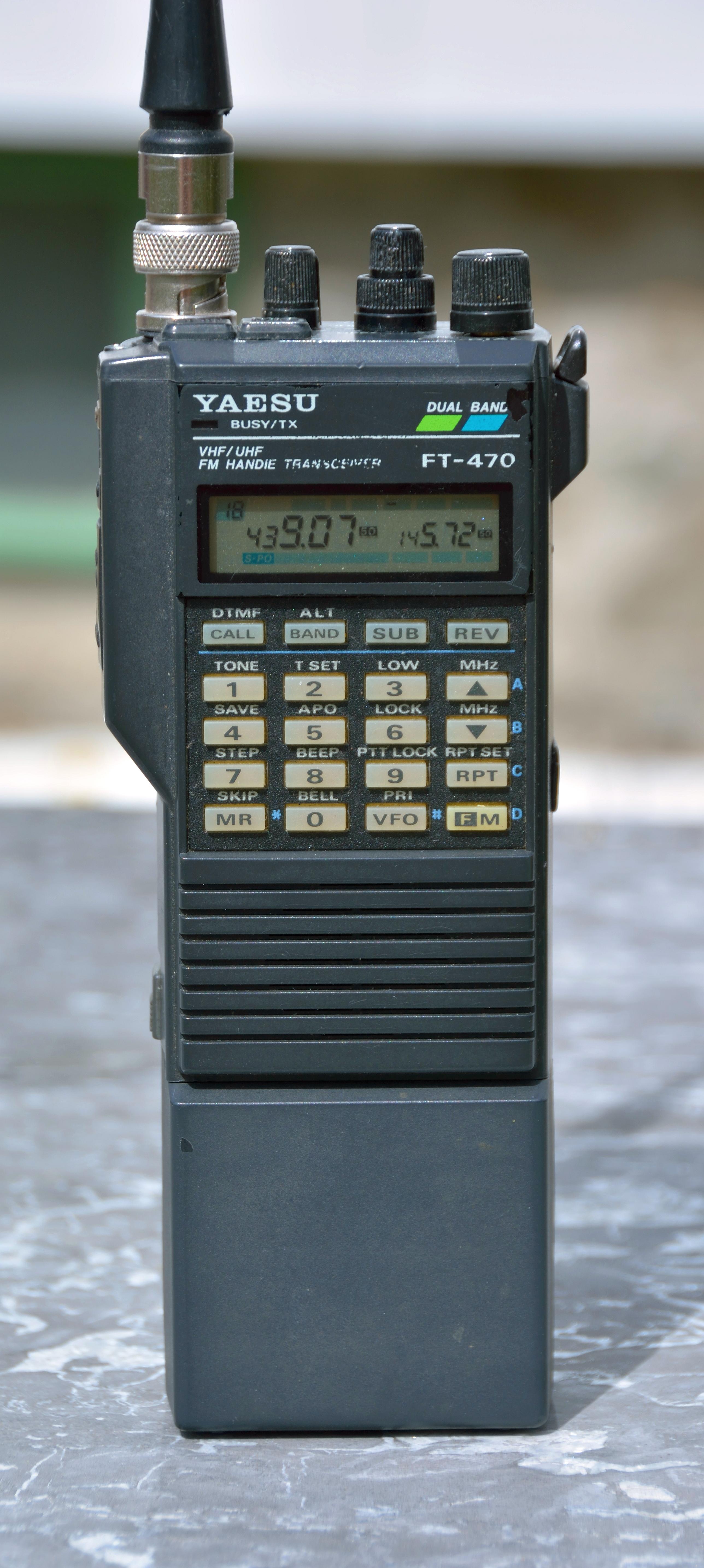 file yaesu ft 470 dualband ham radio transceiver jpg wikimedia commons