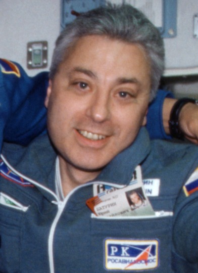 Cosmonaut Yuri Baturin aboard the ISS, NASA photoSource: Wikipedia Yuri_Baturin_2001.jpg