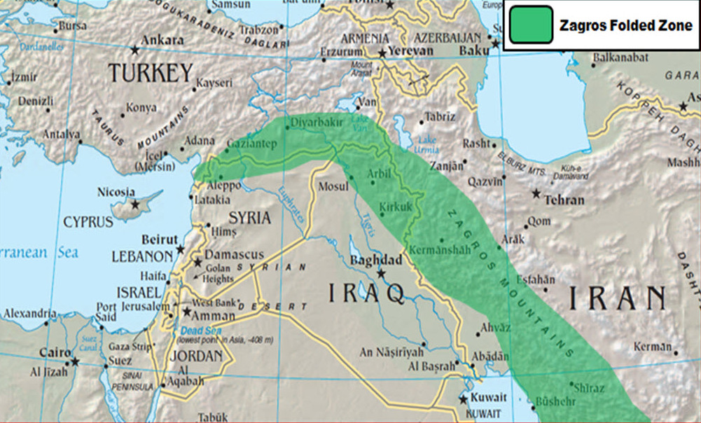 The Tigris And Euphrates Rivers Lessons Tes Teach - Tigris and euphrates river map