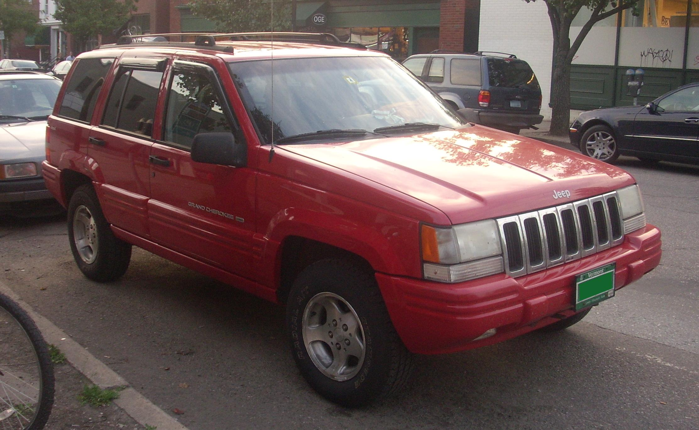 jeep grand cherokee dimensions