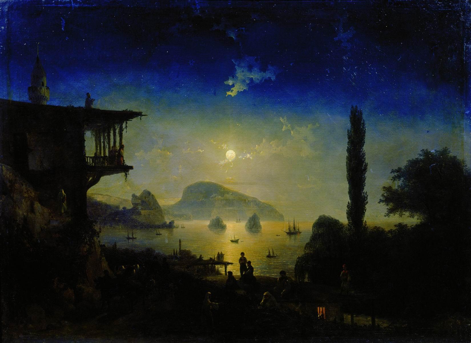 к айвазовский лунная ночь картинка мотоблока для хозяйственных