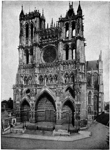 Amiens 1891 Antique Print- Architecture France Sketches From Choir Stalls