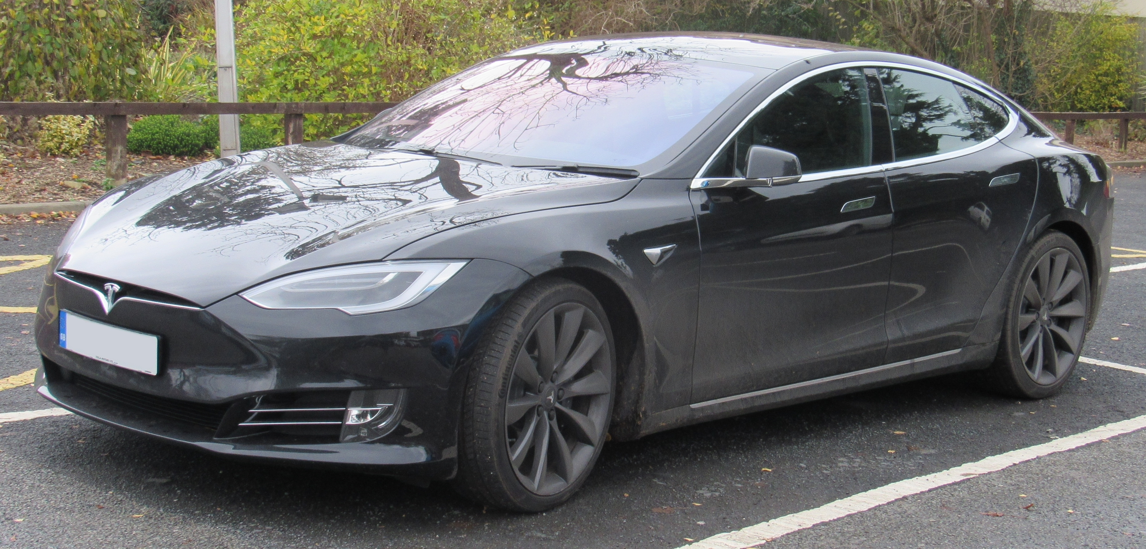 Tesla Model S 75d >> File 2017 Tesla Model S 75d Front Jpg Wikimedia Commons