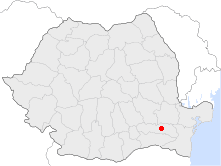 Location of Amara, Romania