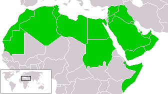Mappa del mondo arabo.