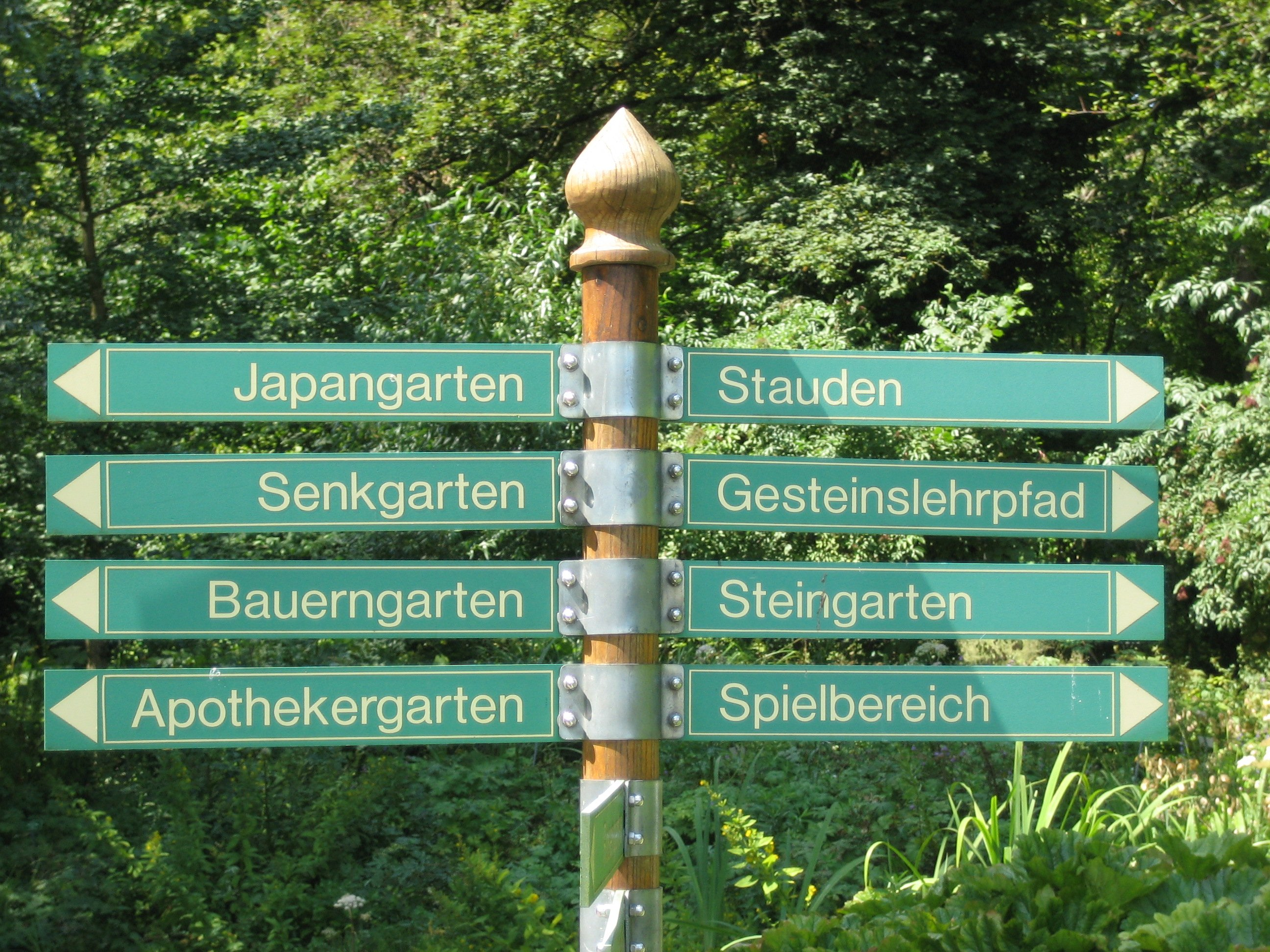 Datei Augsburg Bot Garten Wegweiser Jpg Wikipedia