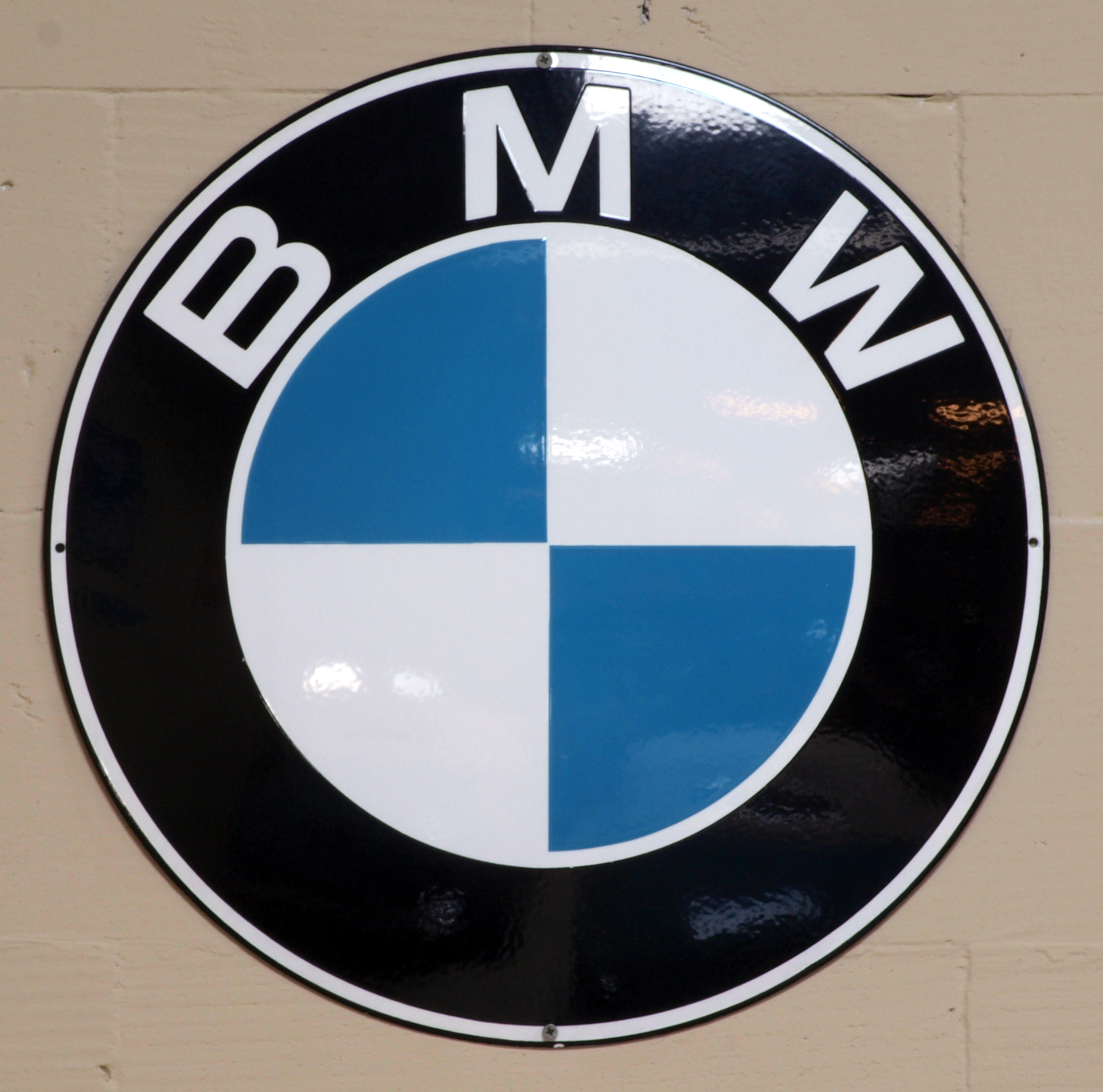 File Bmw Enamel Advert Sign At The Den Hartog Ford Museum