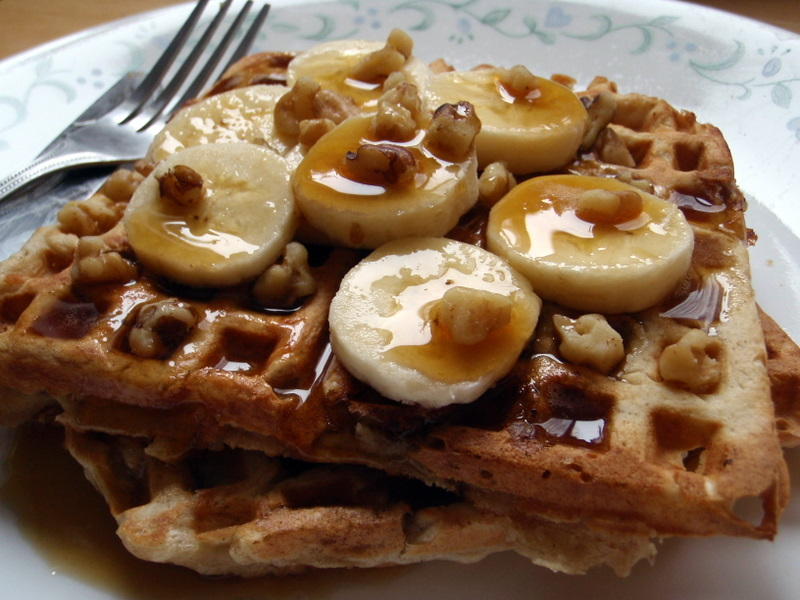 File:Banana bread waffles with syrup.jpg - Wikimedia Commons