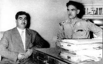 Photograph of Qasim with Mustafa Barzani
