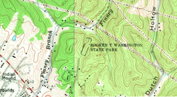 Topographic Map West Virginia.File Booker T Washington State Park Institute Wv Usgs Historical