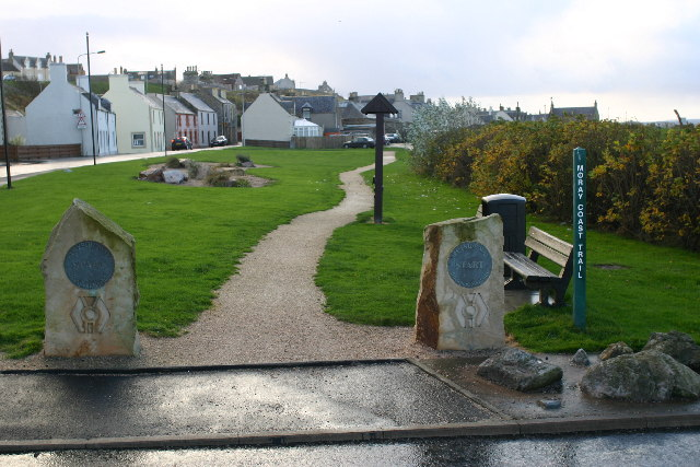 Buckpool Harbour, start of the Speyside Way - geograph.org.uk - 80621