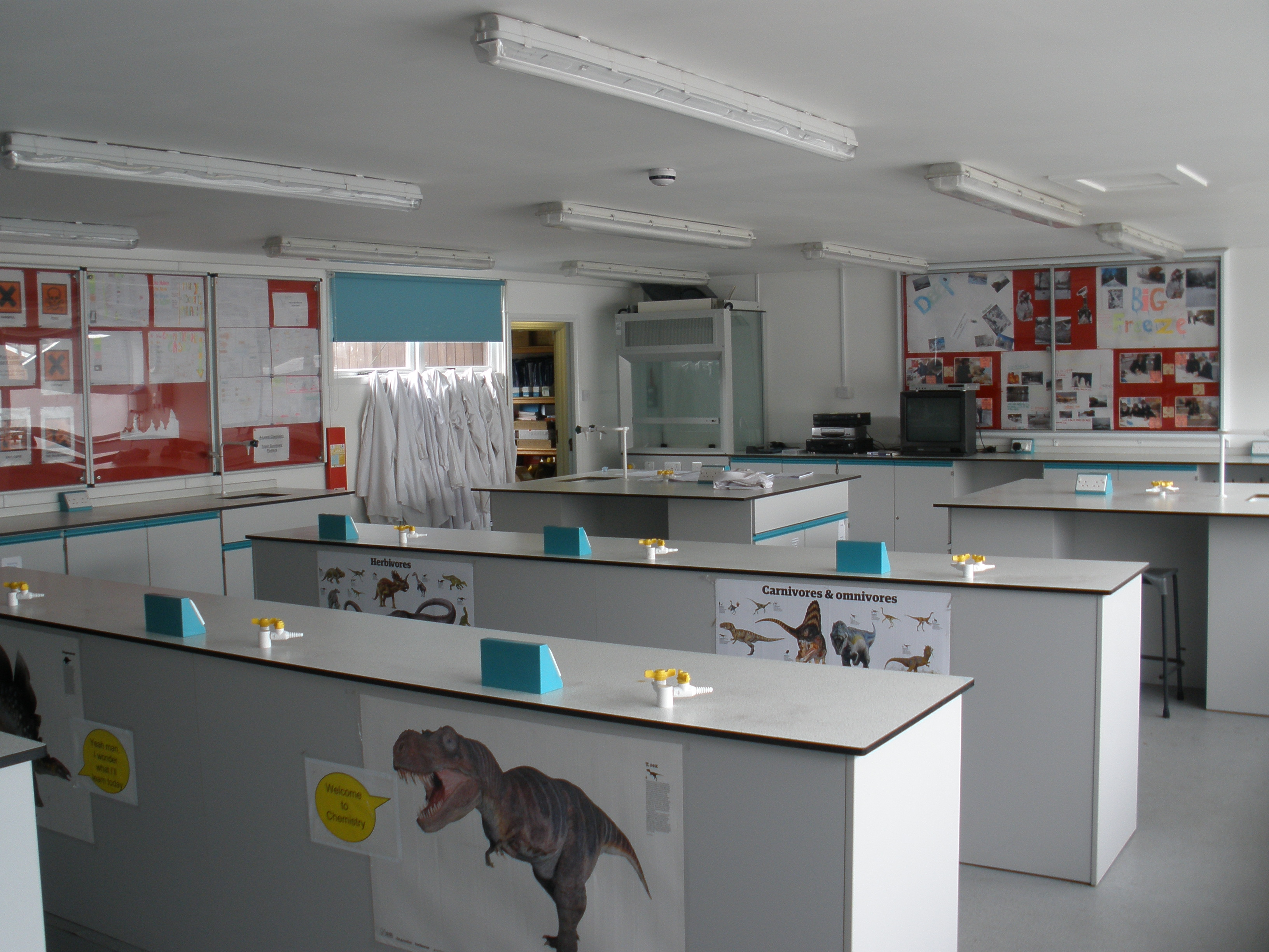 Description chemistry laboratory, stanbridge earls school