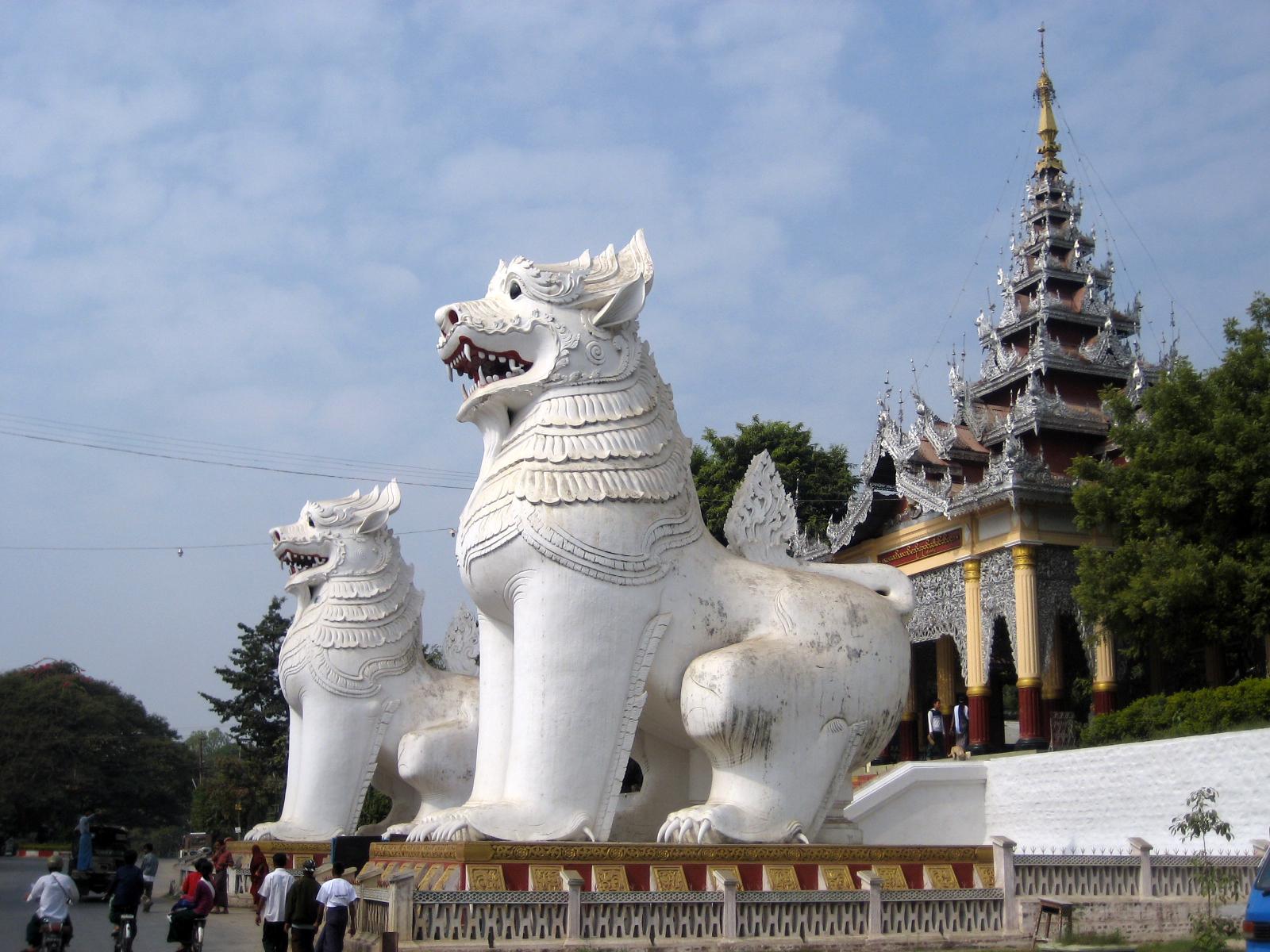 Mandalay Myanmar  city photo : Chinthe, Mandalay Hill, Myanmar Wikimedia Commons