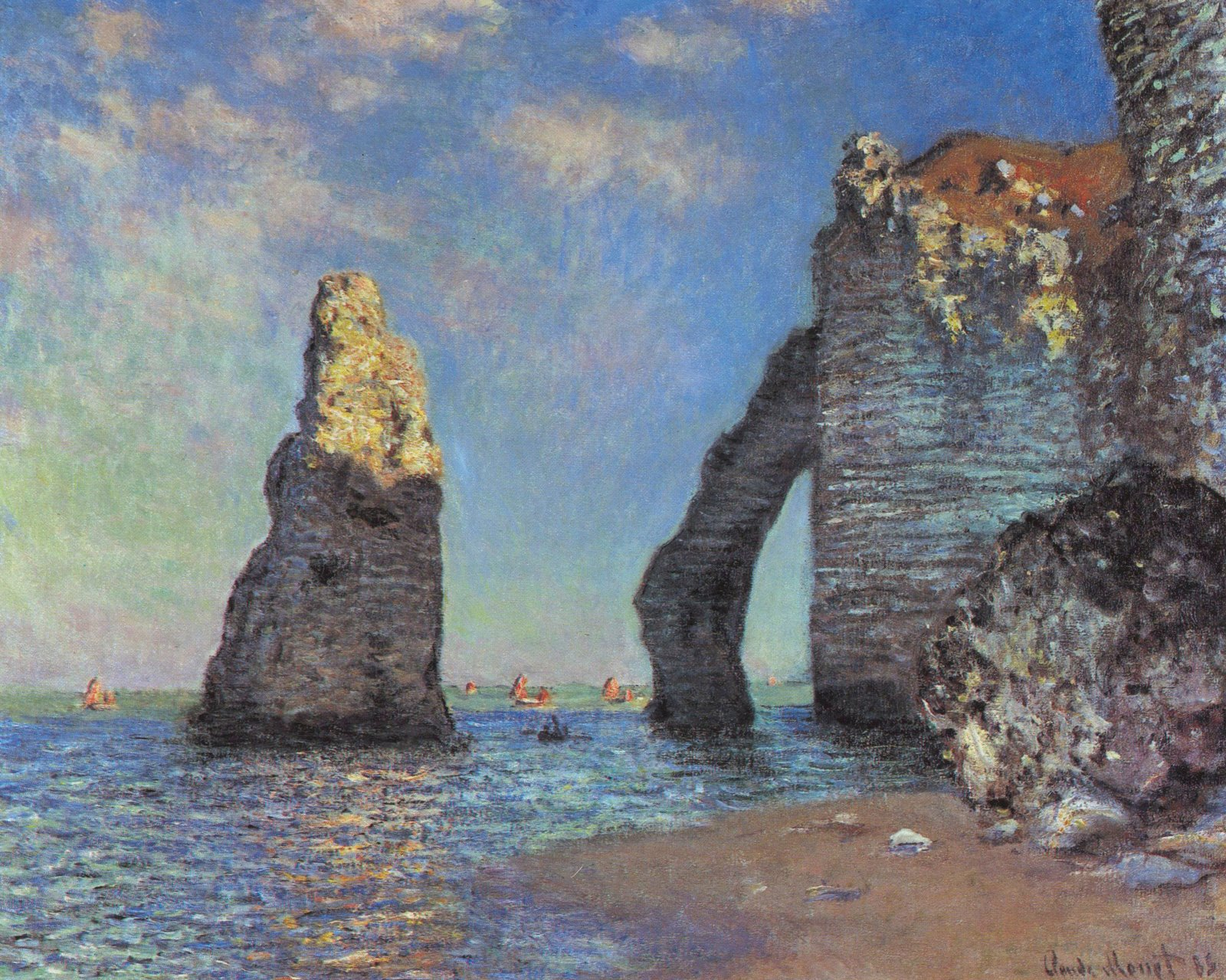 File claude monet the cliffs at wikimedia for Claude monet impressionist paintings