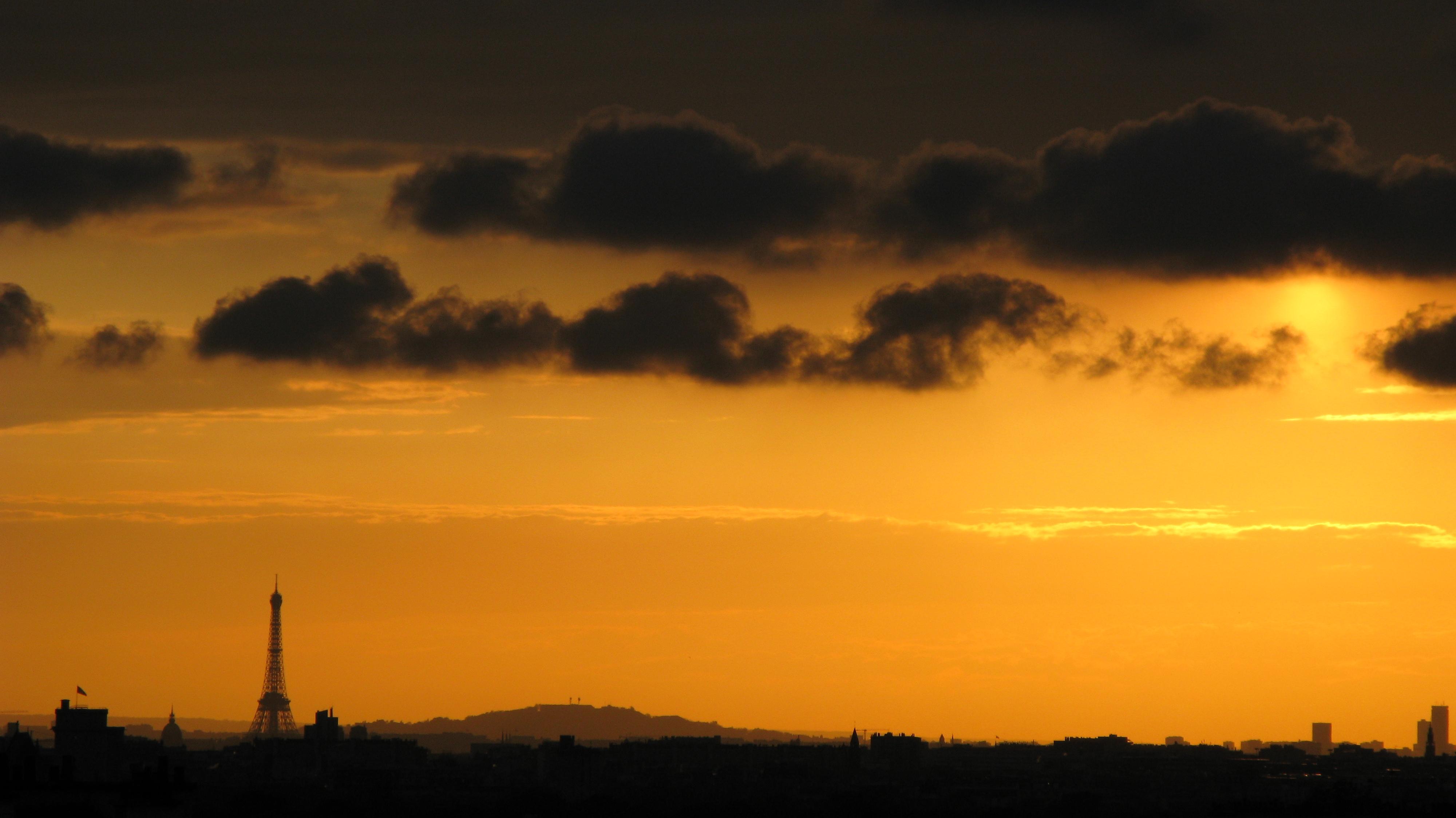 File coucher de soleil sur paris vu de nogent sur marne jpg wikimedia commons - Coucher de soleil sur paris ...