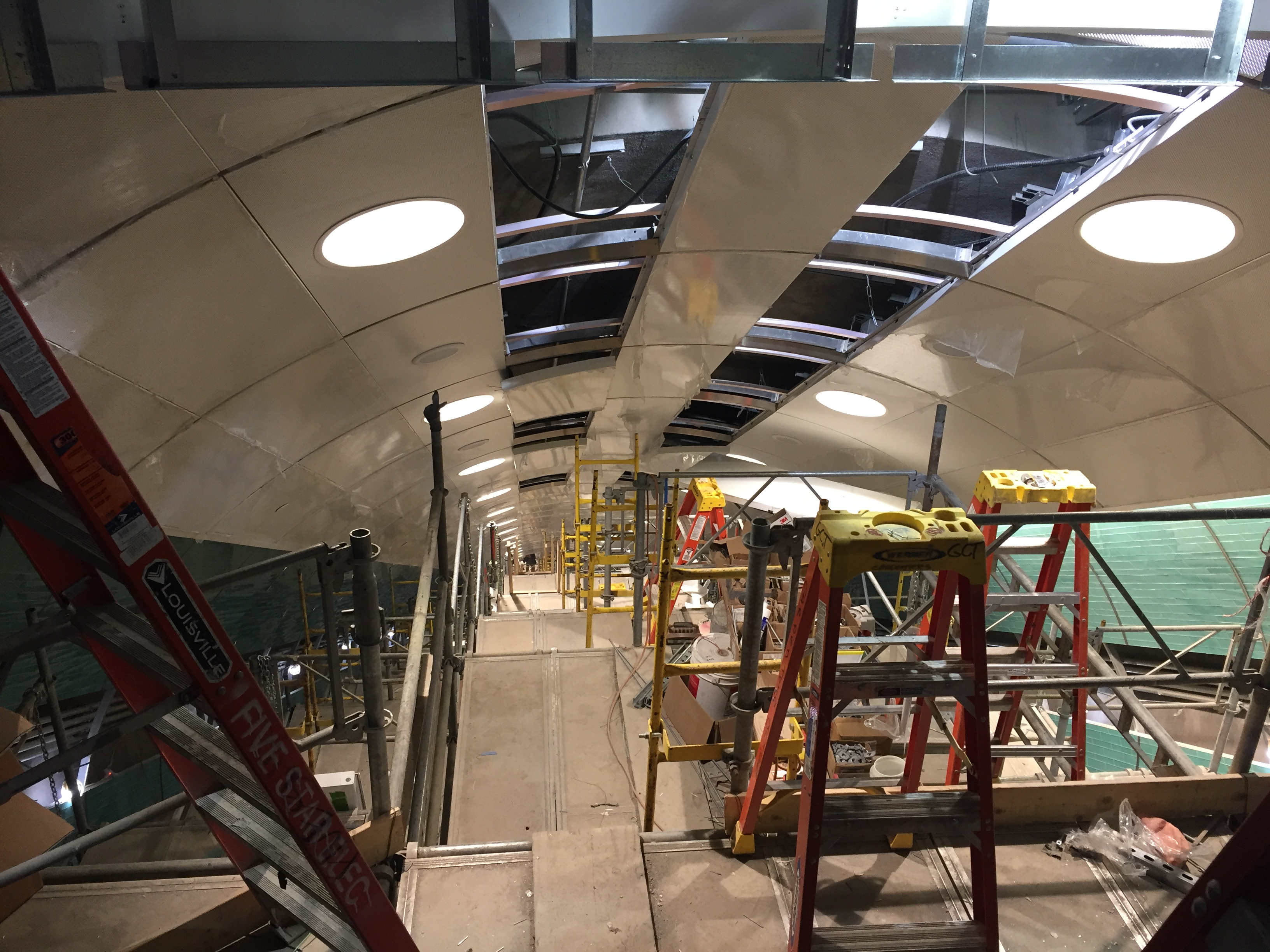 File:Custom Curved Ceiling Panels, Light Fixtures And Speakers At The Top  Of Passenger