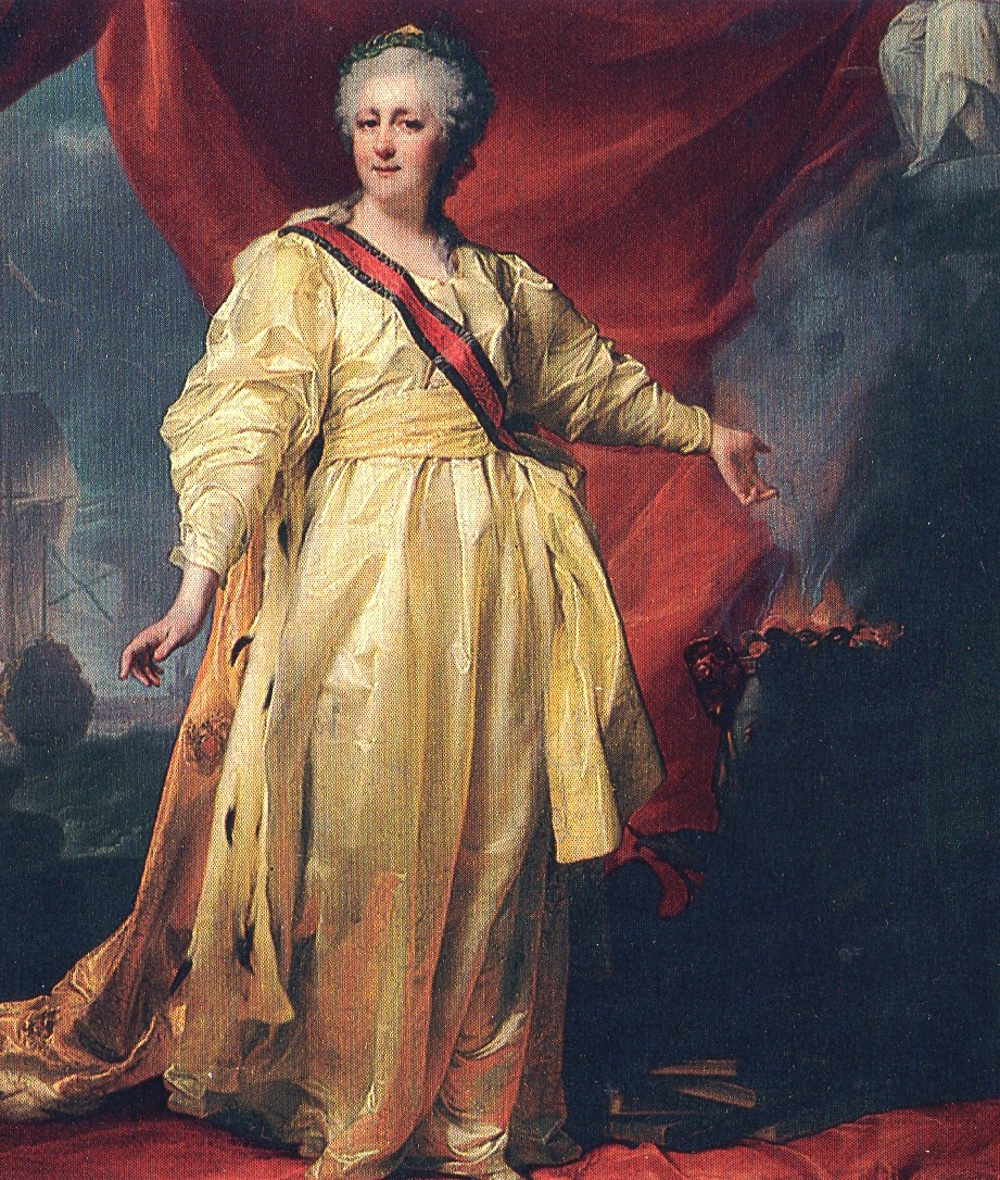 portrait of Catherine the great of russia