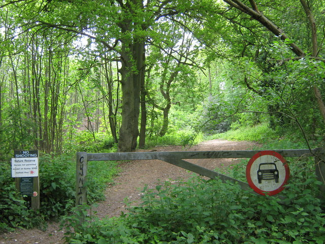 Entrance to Farningham Woods Nature Reserve - geograph.org.uk - 1302795