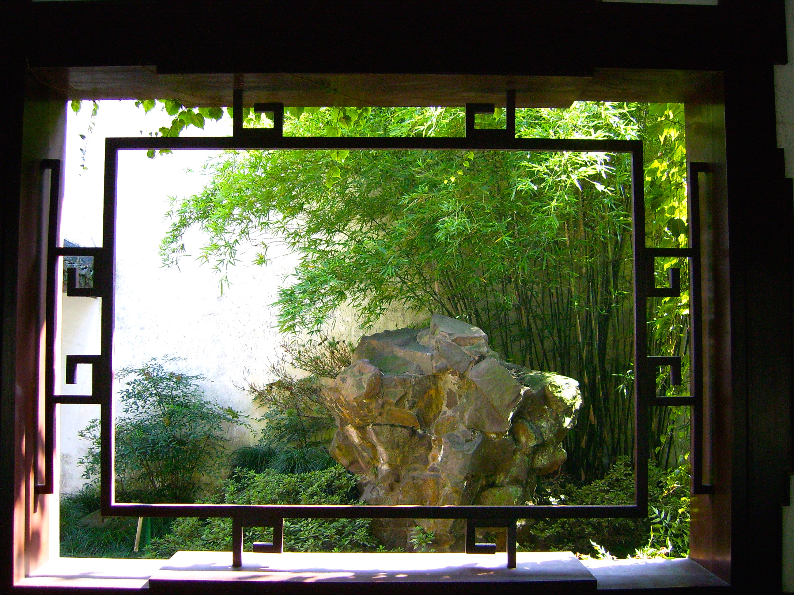 Dark room on pinterest chinese garden window and cathedrals for Garden window