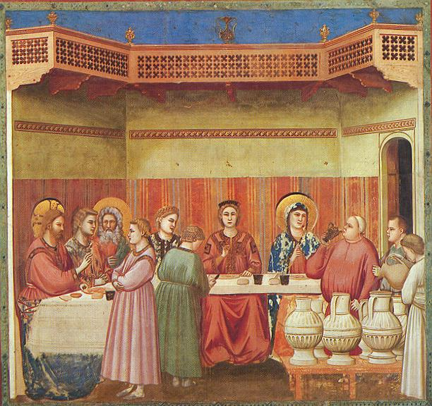 Giotto - Scrovegni - -24- - Marriage at Cana