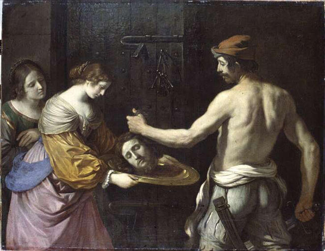 Salome receiving the head of John the Baptist