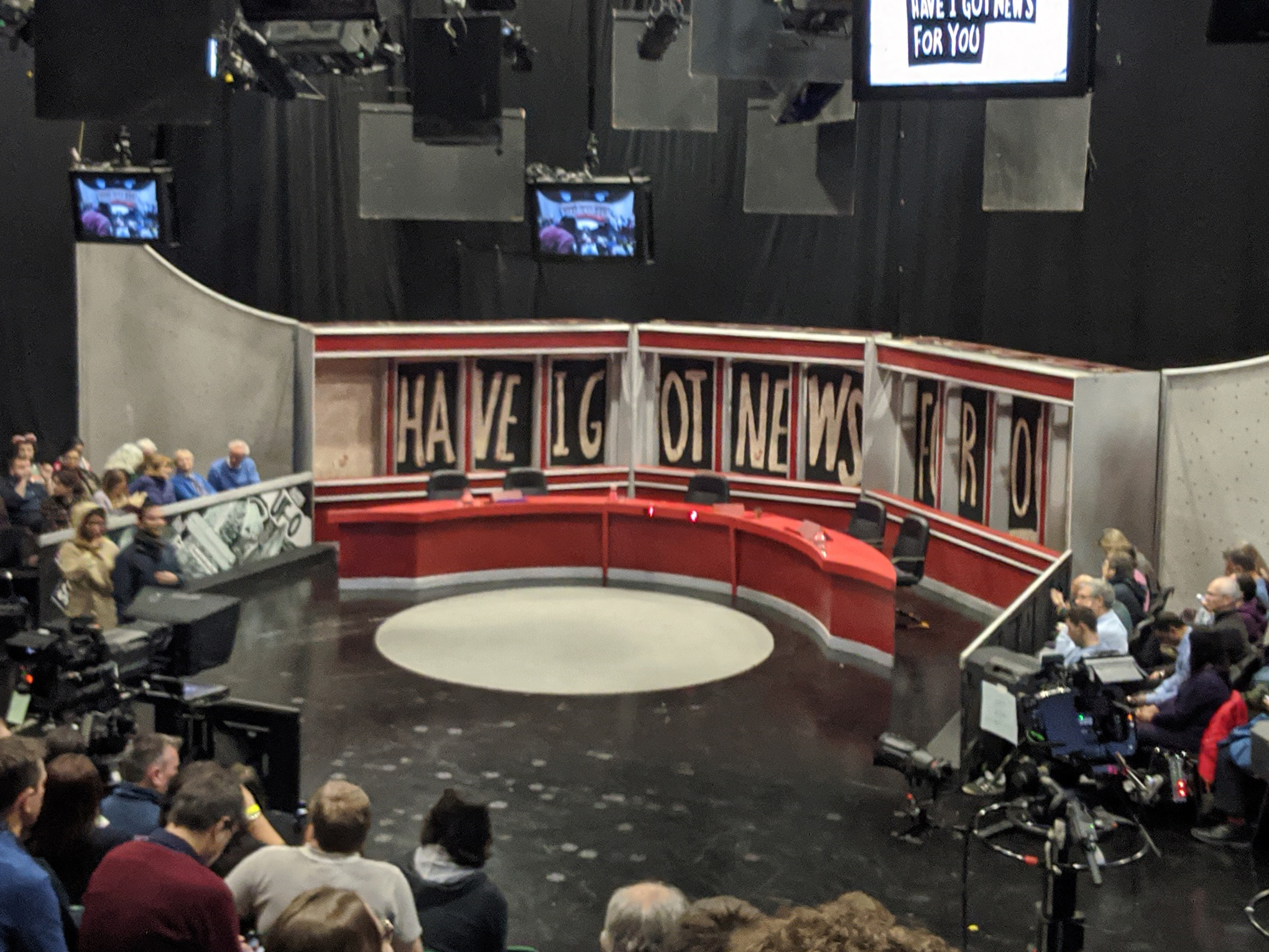 "work, hereby publish it under the following license: English The studio of the BBC/Hat Trick show ""Have I Got News For You"" in Borehamwood, England."