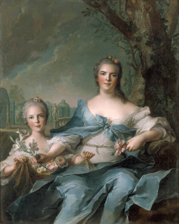 """Résultat de recherche d'images pour """"Madame Infante et sa fille Isabelle de Bourbon- Parme par Nattier"""""""