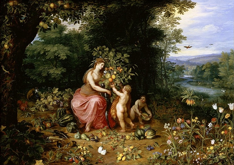 Jan Brueghel the Younger - Allegory of Abundance