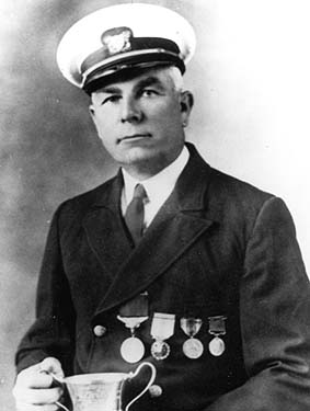 John Allen Midgett was recognized by the UK government for saving UK seamen in 1918.