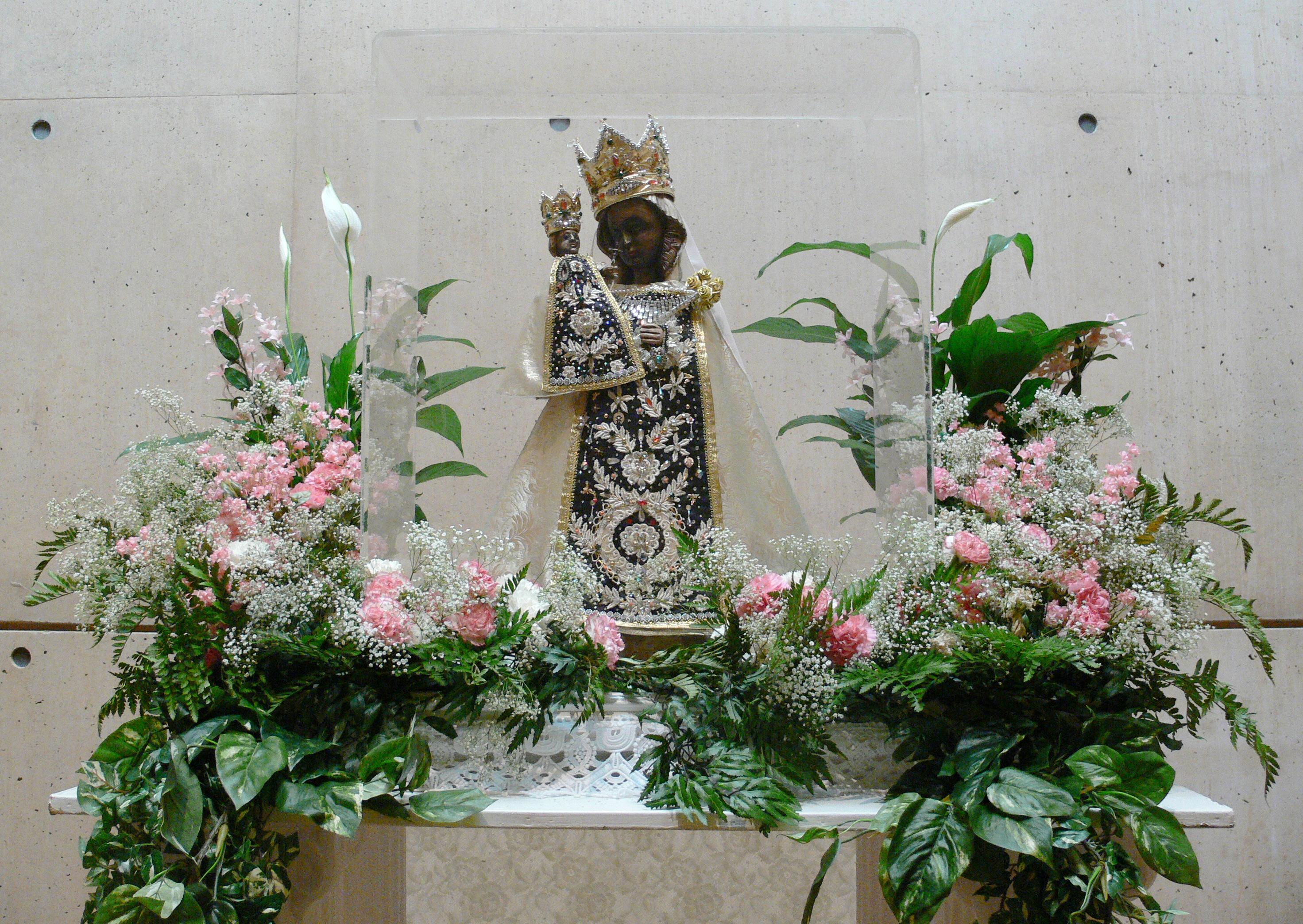 LA Cathedral Black Madonna of Altötting statue.jpg
