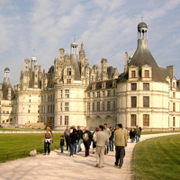 The Chateau of Chambord, one of the most famou...