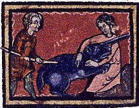 Licorne à silhouette d'ours dans un bestiaire.