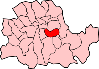 Metropolitan Borough of Bermondsey shown within the County of London