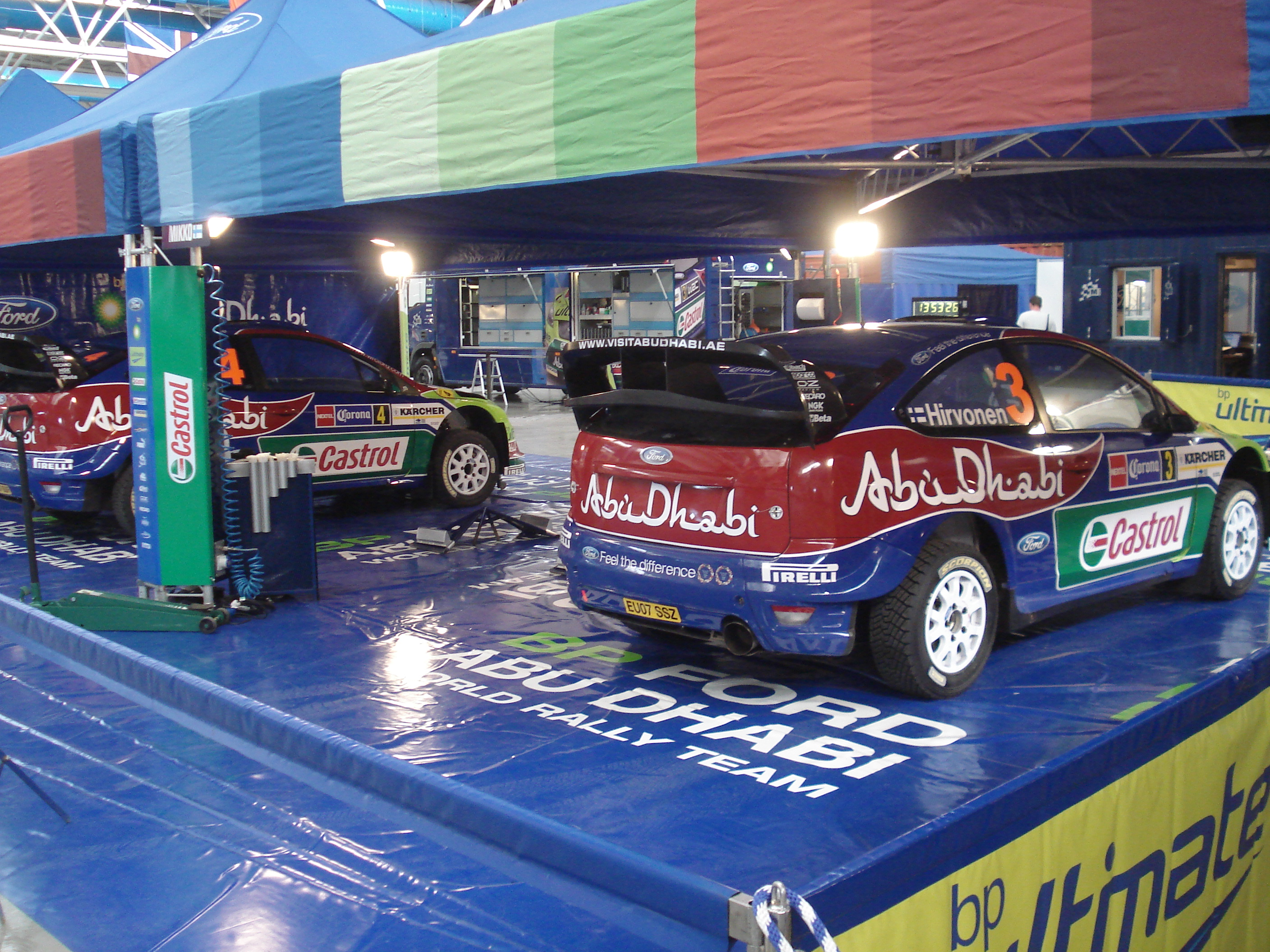Depiction of Ford World Rally Team
