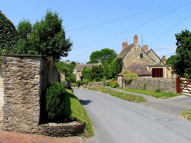 Main street in Ampney Crucis.