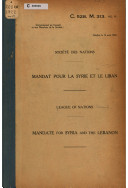 Front cover of the Mandate document, 1922.