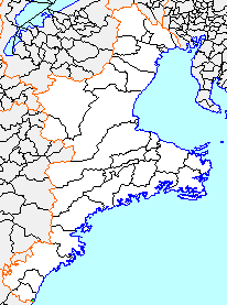 Location of Udono in Mie Prefecture