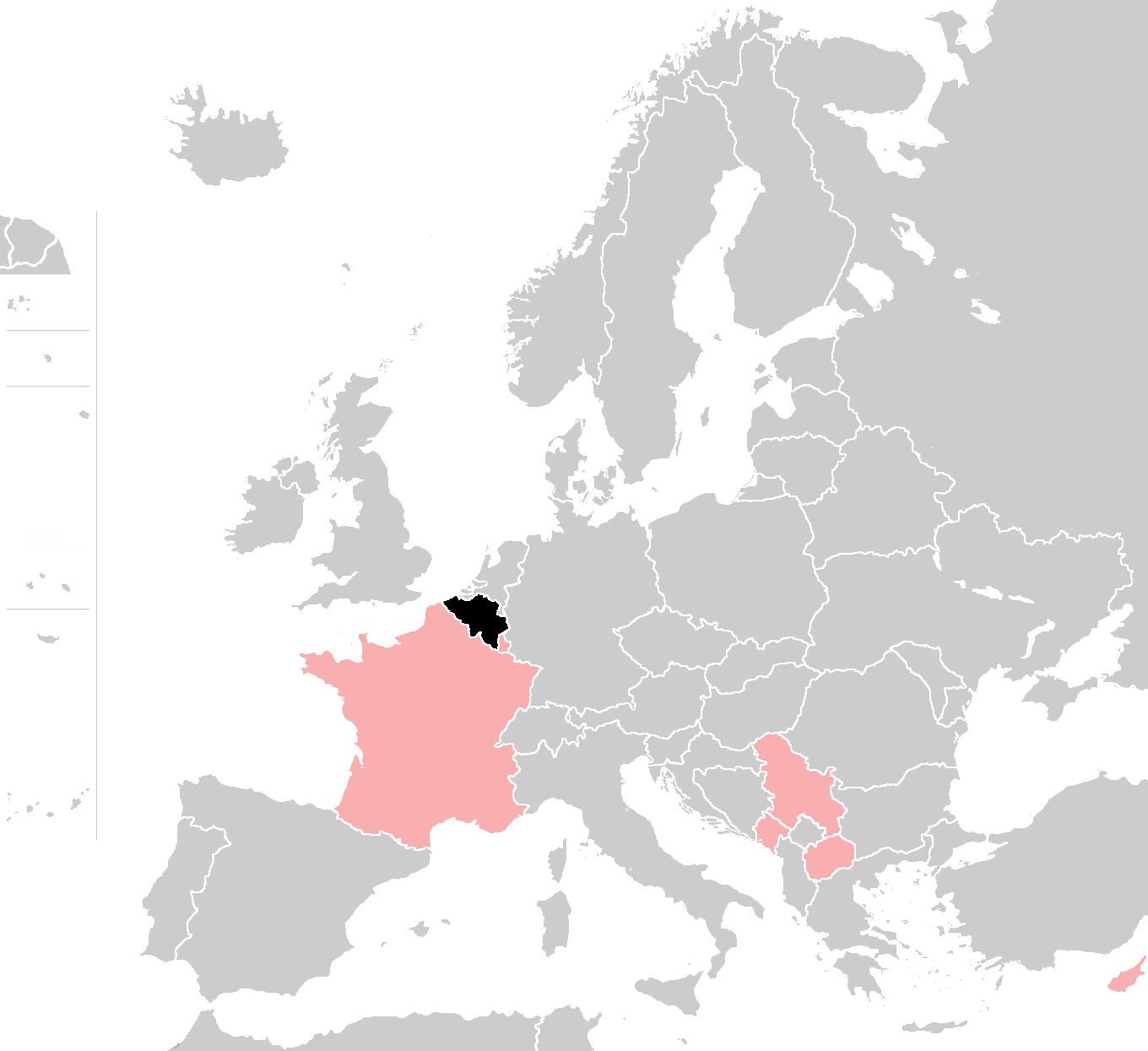 File Map Of Europe With Belgium France Luxembourg Serbia Montenegro
