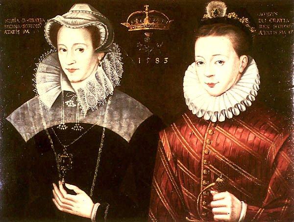 Maria I Stuart z synem Jakubem