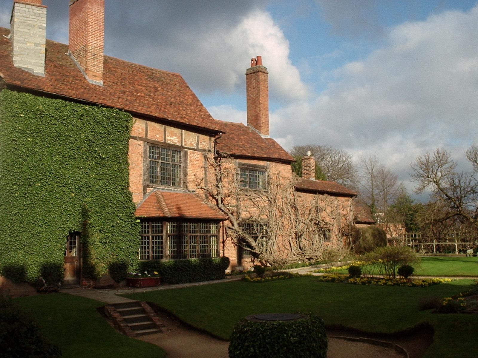 New Place, Stratford-upon-Avon, construida en el sitio de la casa de Shakespeare.