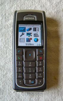 A Black Nokia 6230