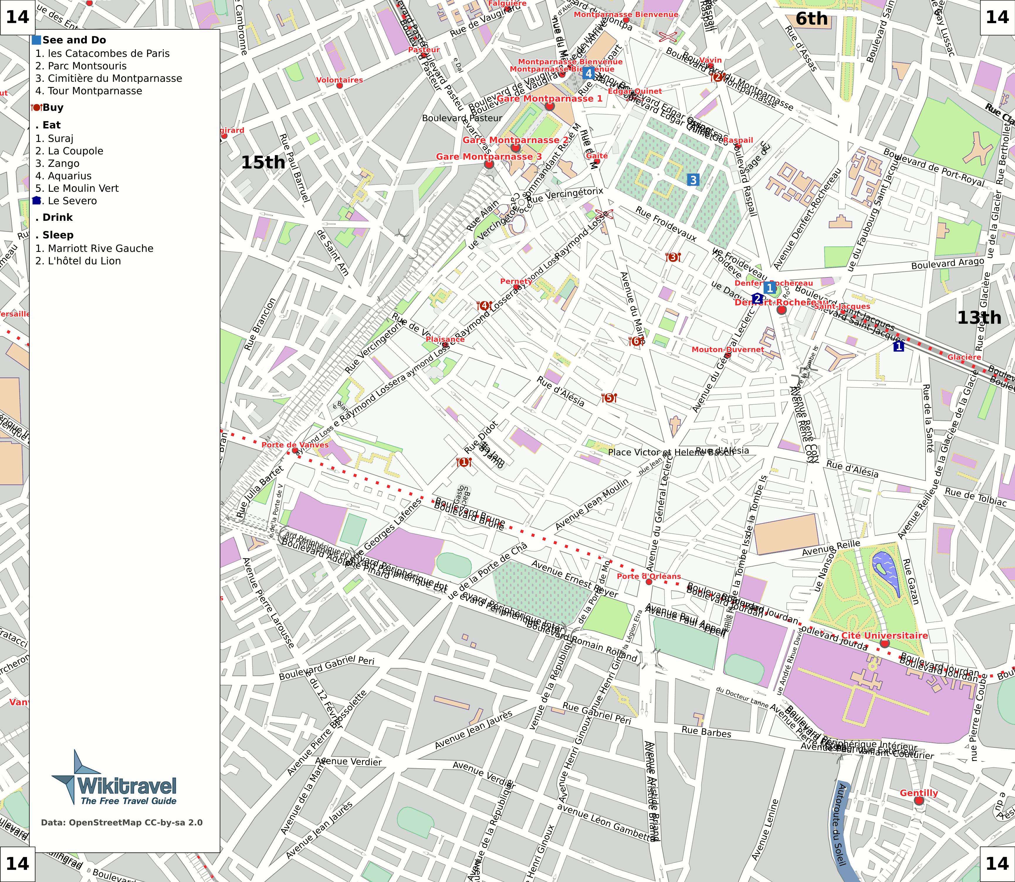 Plan Des Rues De La Ville De Roscoff Finistere