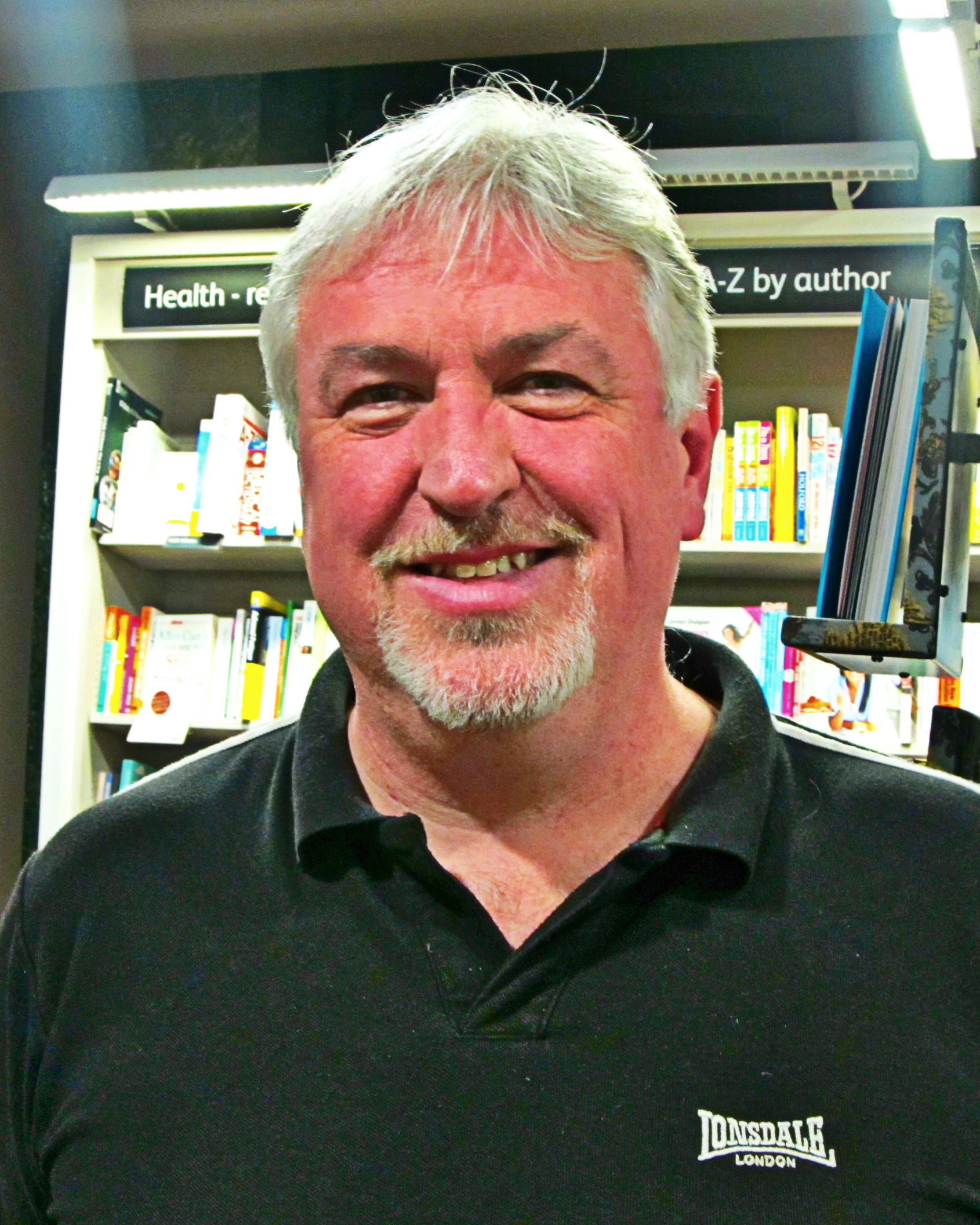 Paul Finch at [[Liverpool One]]'s [[Waterstones]], 13 March 2015