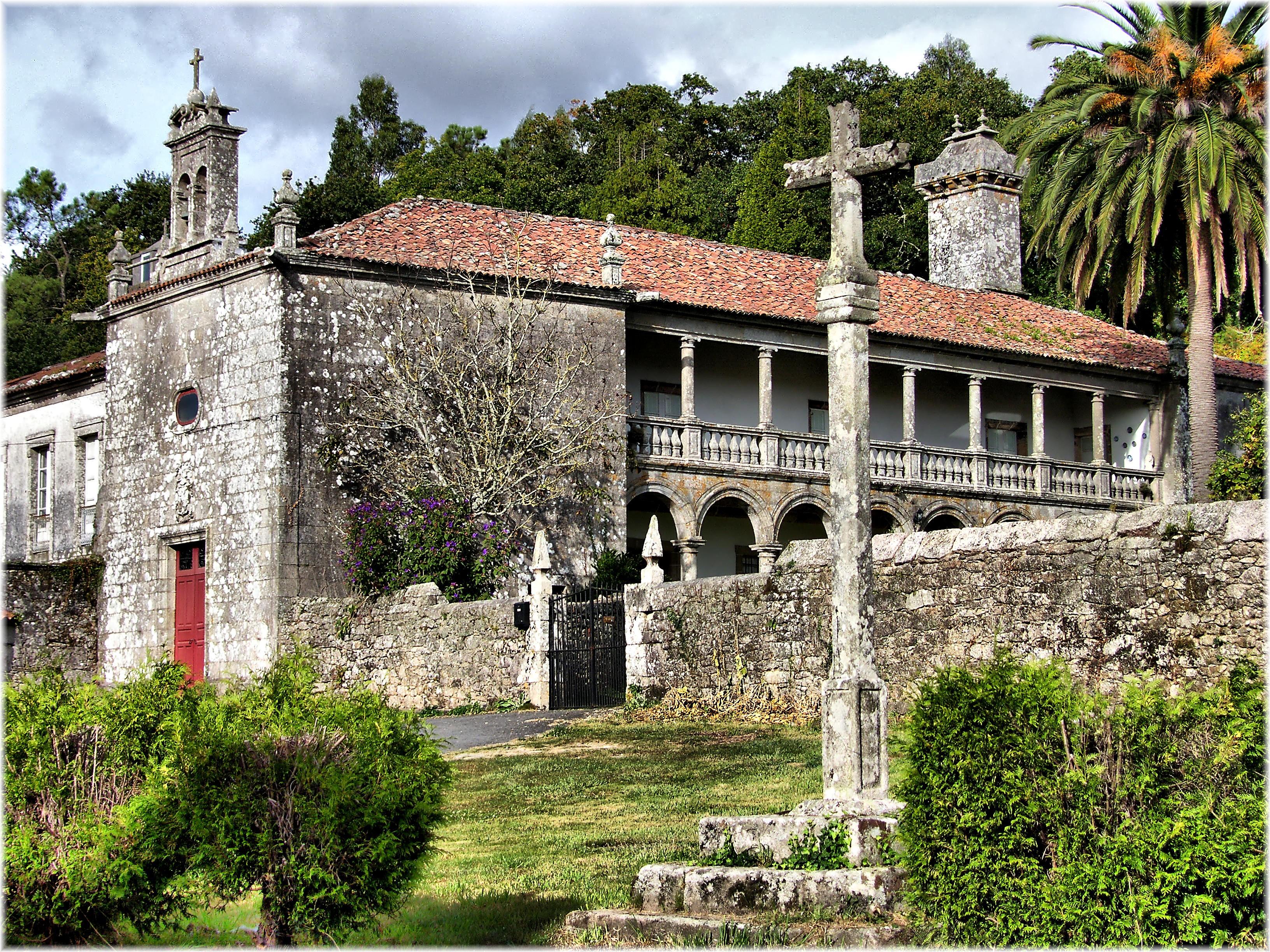 File pazo de trasariz wikimedia commons - Casas de piedra galicia ...