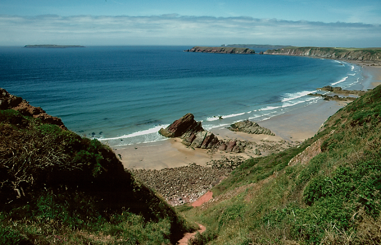 Uk Cornwall Beach Near Wadebridge Dog Friendly